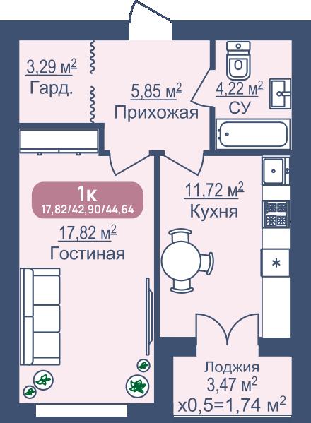 Планировка ЖК Жемчужина